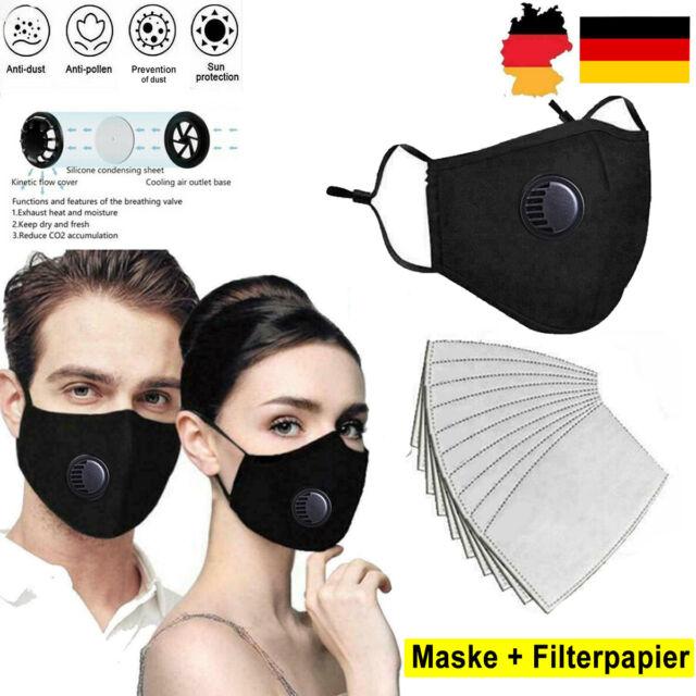 Feinstaubmaske Atemschutzmaske Mundschutz Ffp2 mit Ventil ...