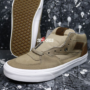 14c6ed6028 VANS HALF CAB C L SILVER MINK TRUE WHITE MEN S SKATE SHOES  S89148 ...