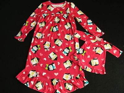 NEW Girls Fleece Winter Nightgown Size 6 Doll Gown Pink Ballerina Pajamas NWT