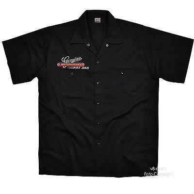 PinUp Vintage Kustom HotRod Rockabilly Worker-Shirt Kustom Shirt Hemd *1276