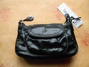 Image Is Loading Tula Black Leather Handbag Bag 6465a Rrp 69