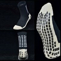 Soccer Socks Anti Slip Mid-calf Cotton Football Socks Team Sports Sock Black