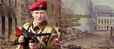 "DID K80135 1//6 WWII British Airborne Red Devil Commander Roy 12/"" Figure Boots"
