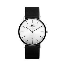 Danish Design IQ14Q1030 Steel/Ceramic Silver Dial Black Leather Men's Watch