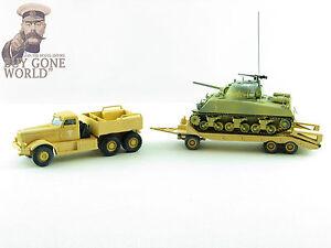 Corgi-CC55108-1-50-Diamante-T-M20-con-M4-Tanque-Sherman-Sidi-Bou-Zid-Tunez-1943