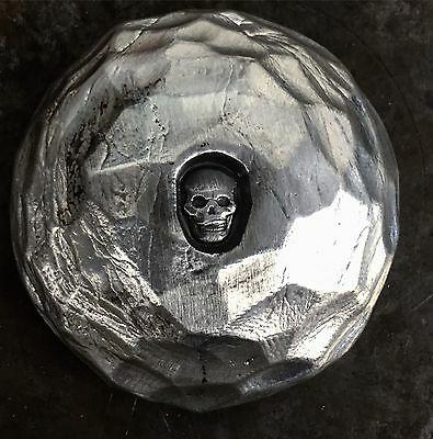 "2 TR//OZ MK BARZ /""KIT KAT SKULL/"" .999 Fine Silver HAND POURED SHINEY"
