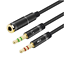 3-5mm-Audio-Y-Splitter-Cable-1-Female-to-2-Male-Microphone-Headphone-Adapter thumbnail 1