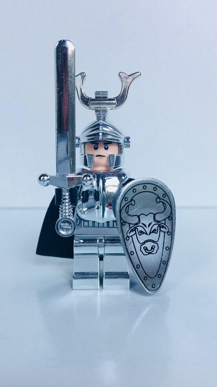Lego caballero en armadura brillante (Cromo Bull Caballero Minifigura)