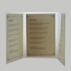 a5 3 fold poly menu ebay
