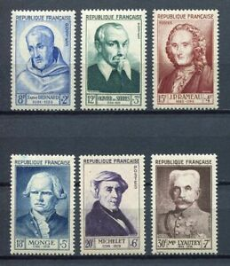 21633-FRANCE-1953-MNH-Nuovi-6v-034-Famous-People-034