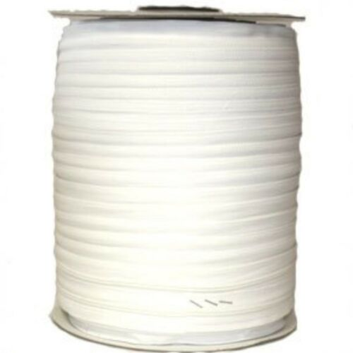 1 Metre White Nylon Open End Zip On The Roll Plus Zipper
