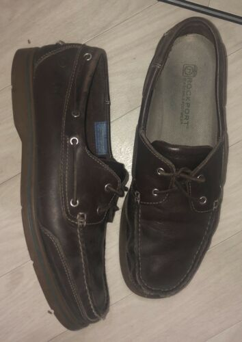 Rockport media da 12 13m di barca larghezza Dark Brown Uk Scarpe TAzgTrx