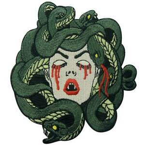 EMBROIDERED-Iron-Sew-On-Patches-appliques-Badge-Medusa-Snake-Biker-Patch-Large