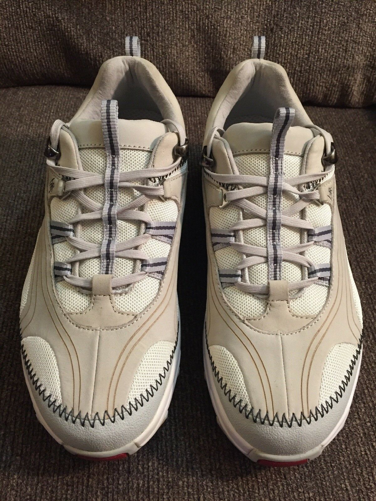 MBT Chapa w White, Cream Leather Mesh Women's Sz 9 Walking Comfort Sneakers