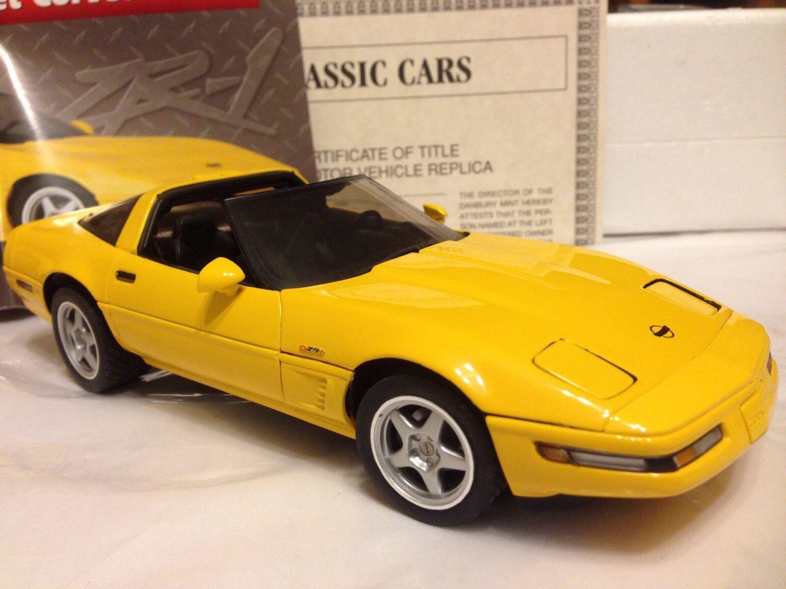 1 1 1 24 Danbury Mint Competition Yellow 1995 Corvette ZR1 ZR 1 5a0e2a