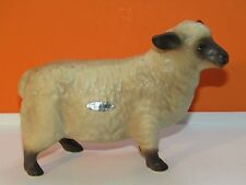 "Vtg Lefton Berkshire Breed Full Grown Sheep Figurine 5 3/4"" Long X 4 1/4"" Tall"