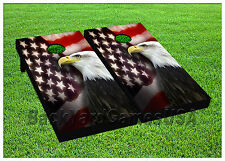VINYL CORNHOLE BEANBAG Independance Day Patriotic Eagle Boards Wraps 1083