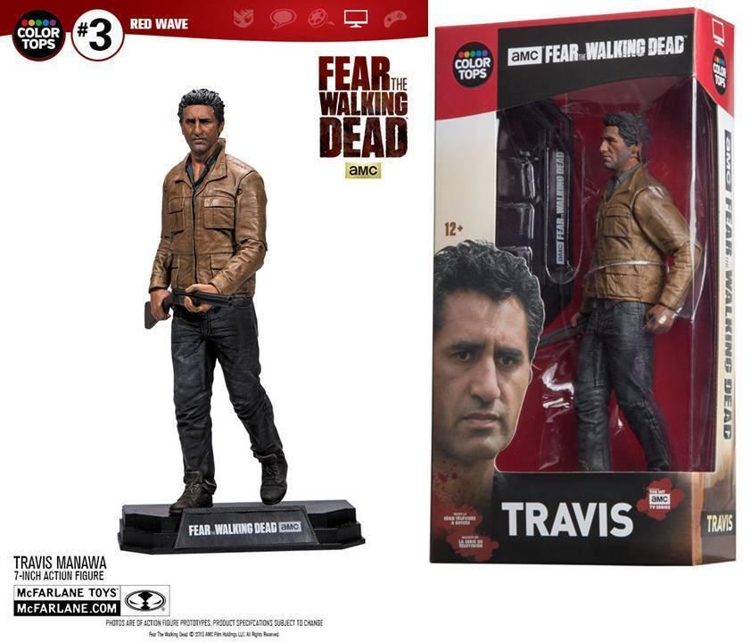 Figura De Acción Travis Manawa Fear Walking Dead 18 cm red Wave color Superior