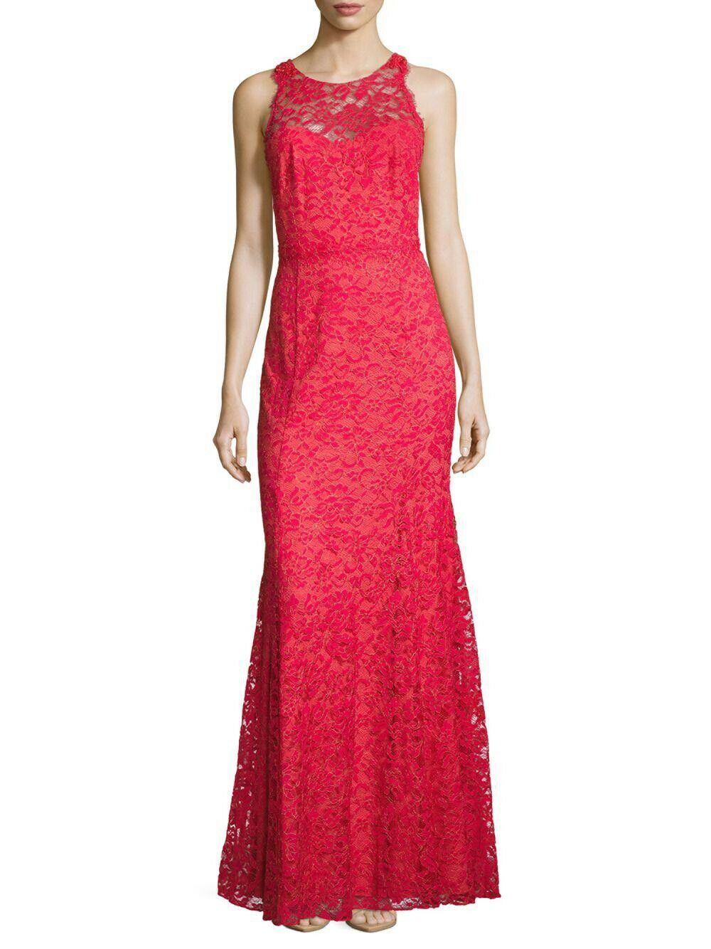 1195 NWT Marchesa Marchesa Marchesa Notte Sienna Beaded Lace Illusion Gown Size 2 50d90e