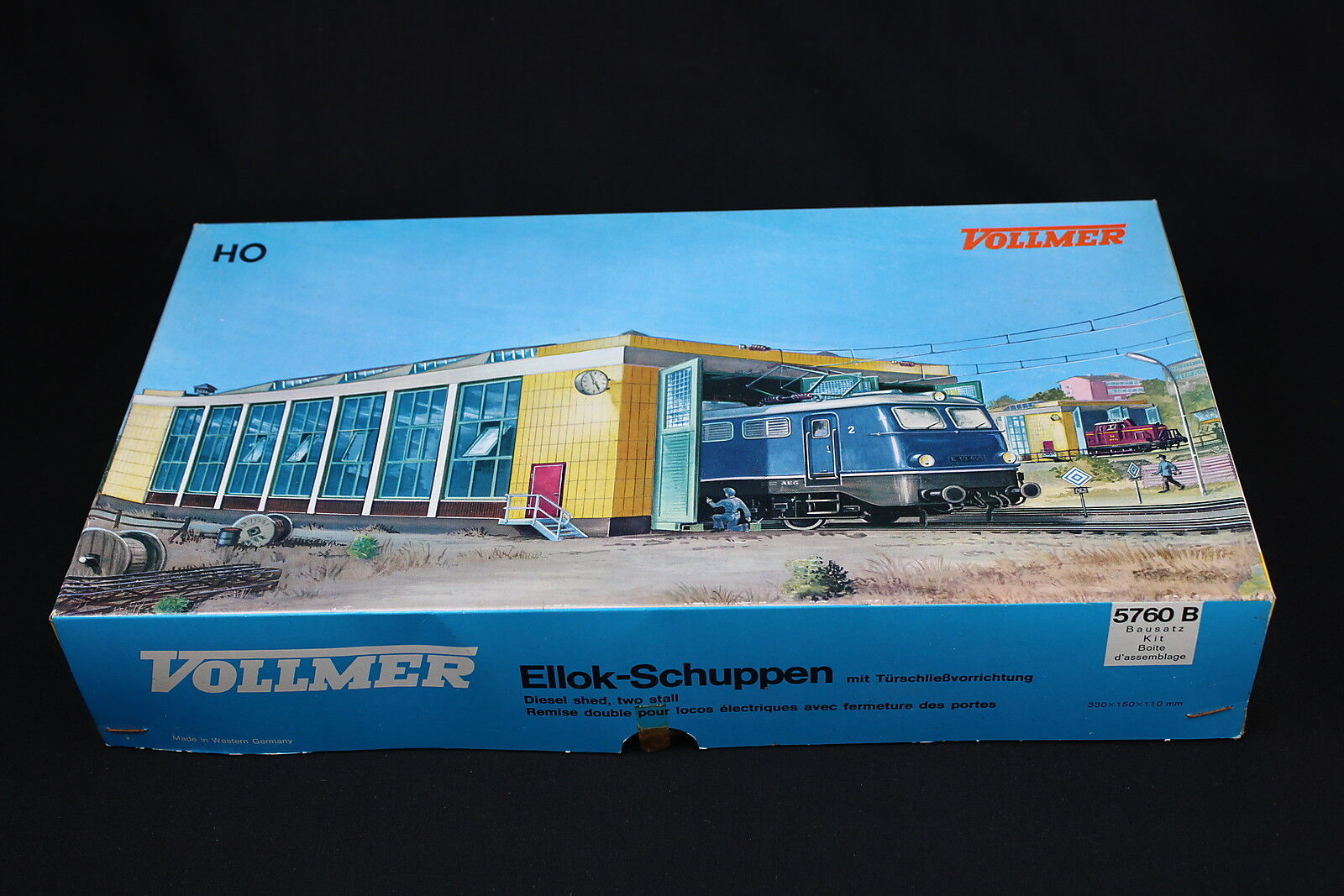 W283 VOLLMER Train Ho 5760 B Remise double locomotive electrique Eilok Schuppen