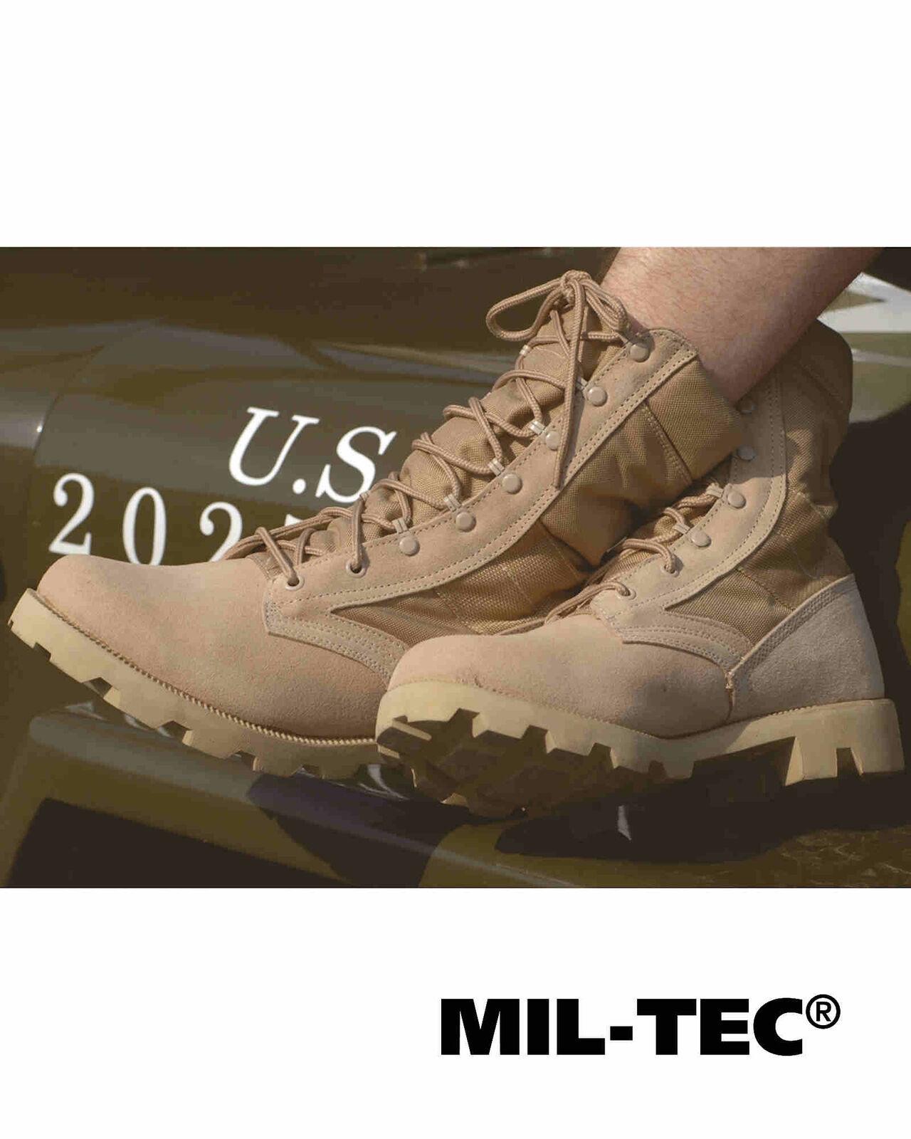 Mil-Tec US DESERTStiefel Schuhe SPEED LACE KHAKI Stiefel Schuhe