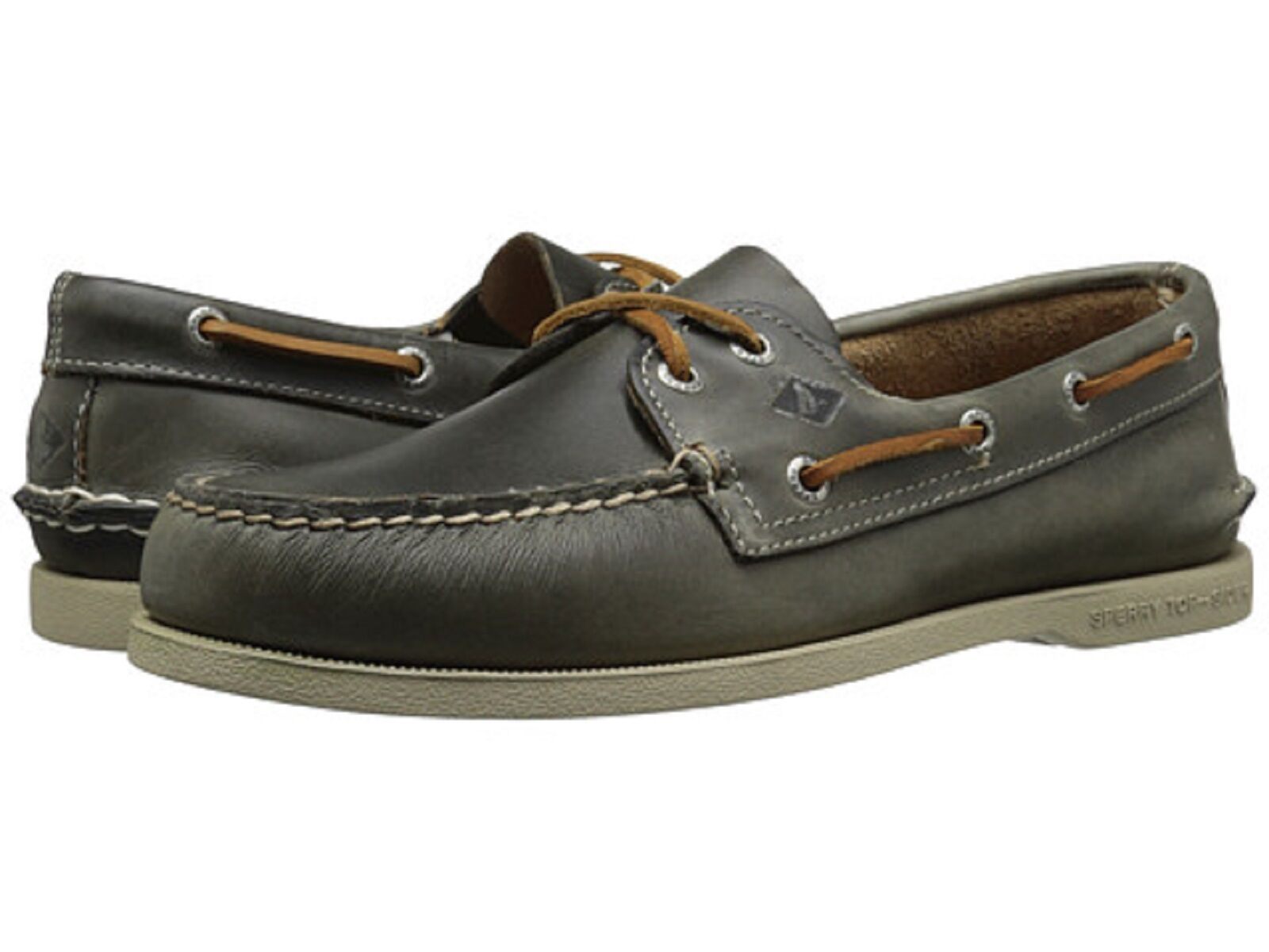 promozioni SPERRY SPERRY SPERRY 'A O WATERLOO' 2-Eyelet grigio Brn Uomo Leather Boat scarpe  Sz. 9 M NIB  negozio d'offerta
