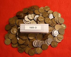 50 nice coins 1925-P LINCOLN WHEAT CENT ROLL