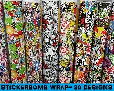 "STICKERBOMB Car Wrap 152 x 50cm (60 x 20"") - Bubble Free Vinyl Sticker Bomb"