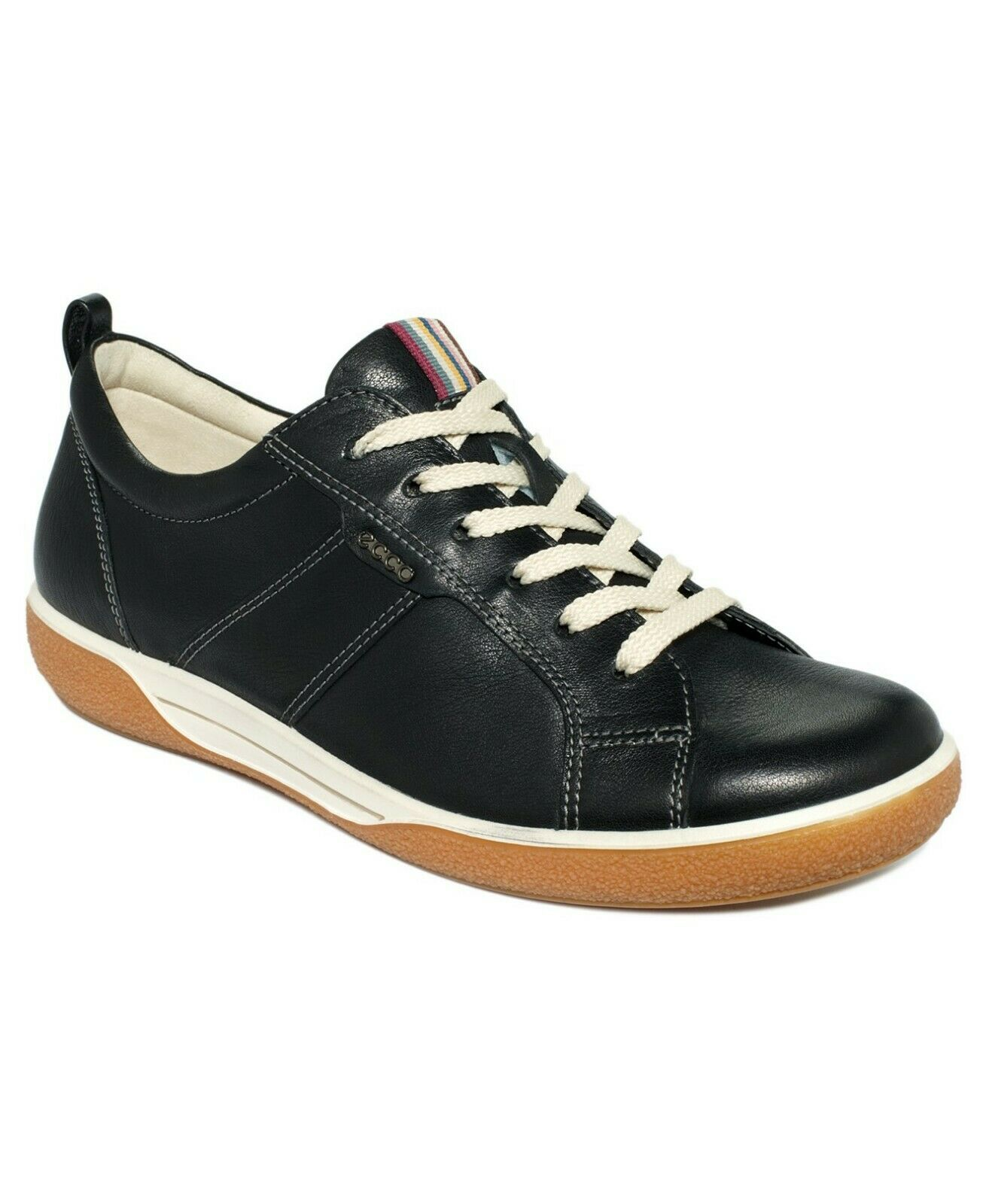 ECCO Women's Chase Lace Up Tie Marine Leather Sneakers shoes 41(EU) 10-10.5(US)