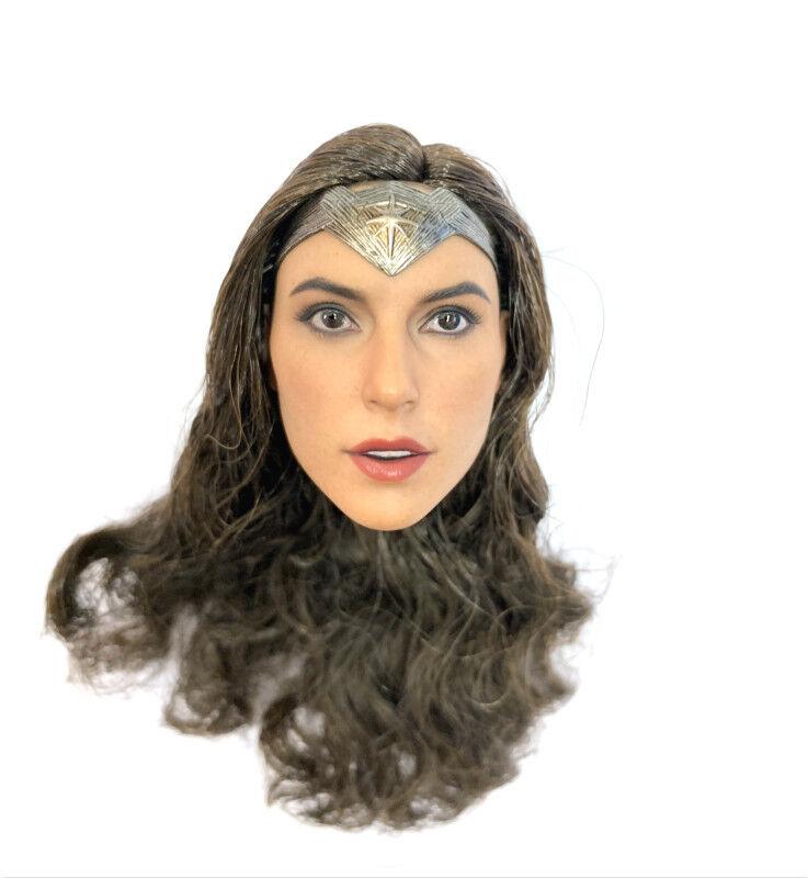 1 6 Hot Toys  Dawn of Justice MMS359 Wonder Frau Head Sculpt Loose Figure New