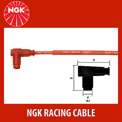 1 New NGK Red Racing Cable Single Lead Motorcycle Wire CR3 # 8089
