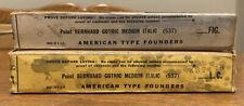 Nos Atf 8pt Bernhard Gothic Medium Italic Figslower Case Letterpress Type