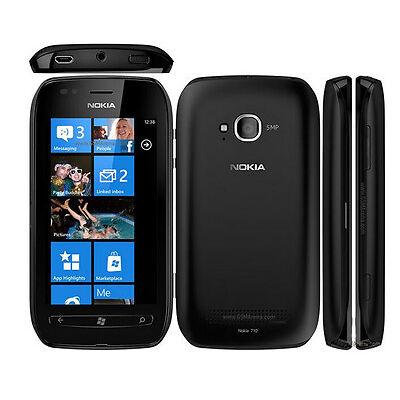 Unlocked Original Nokia Lumia 710 8GB GSM 5MP GPS Windows 7.5 Smartphone Black