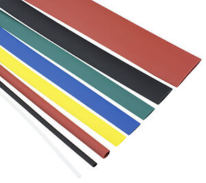 Heat Shrink 2:1 Tube Tubing Sleeve Sleeving Heat Shrink - All Colours and Sizes