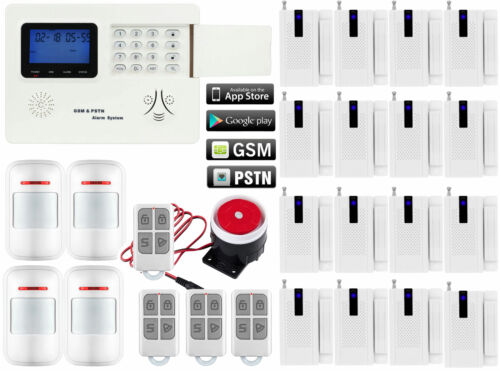 S01 IOS//Android APP Control GSM PSTN Wireless Home Security Alarm Burglar System