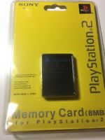 Sony Playstation 2 Black 8 Mb Memory Card Official Original Sealed Ps2