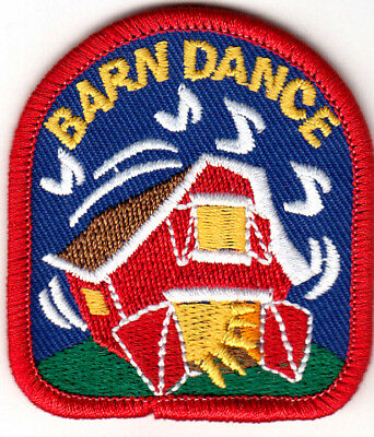 """barn Dance"" Iron On Embroidered Patch Western Southwest Dancing Aliviar El Calor Y La InsolacióN"