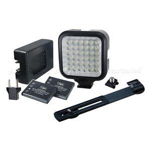 Vidpro Professional Photovideo 36 Led Light Kitbattery Charger