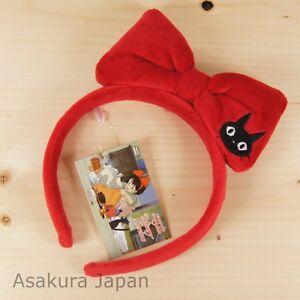 Kiki's Delivery Service Jiji Ribbon Hair bands Hoop Bow Studio Ghibli Japan