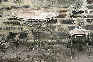 Détails sur table chaise création mathieu MATEGOT design vintage jardin  1950 rigitulle rare
