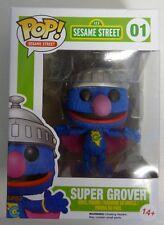 POP ! Sesame Street SUPER GROVER  Vinyl Figur  Neu OVP