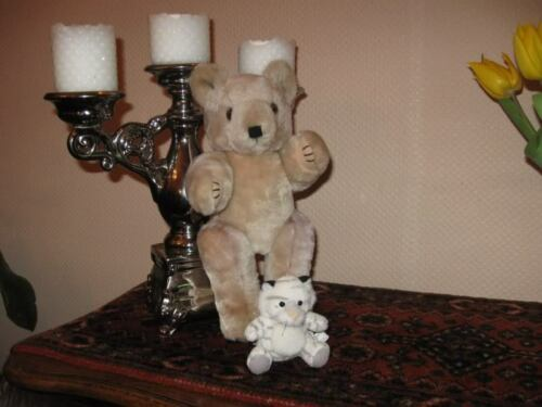 Vintage Dutch Holland Jointed Bear & K&M Europe Kitten