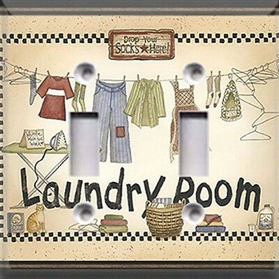 Laundry Room ~ Light Switch Cover~Home/Room Decor~ Choose Your Plate~
