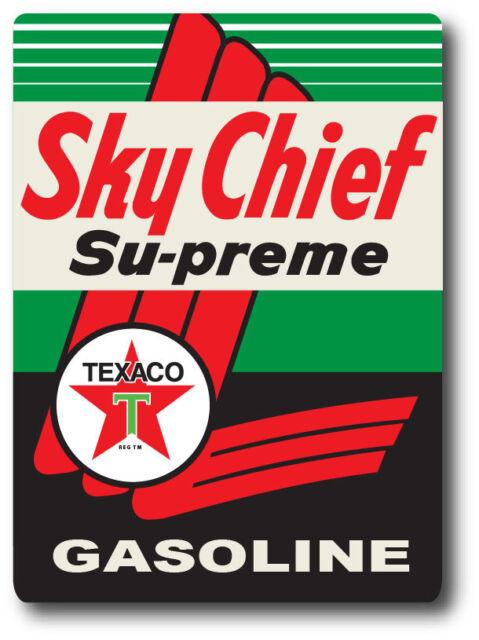 "SKY CHIEF TEXACO SUPER HIGH GLOSS RECTANGLE OUTDOOR 4/"" x 5/"" DECAL STICKER"
