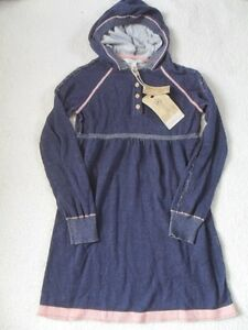 e7c1e9e3143 Details about EX FAT FACE LAUREL NAVY / PINK CABLE TRIM HOODY HOODED FINE  KNIT DRESS AGE 10-11