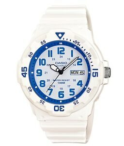 Casio Watch * MRW200HC-7B2 Diver Look 100WR Blue and White Resin COD PayPal