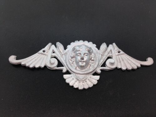 Large unfinished Head and Wings Ornament for Antique Clocks