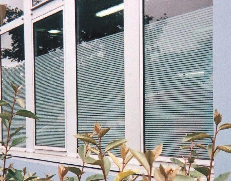 Patterned Decorative Weiß Frosted Window Film - - - Privacy Frosted Glass Film FR04 c54957