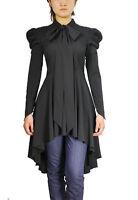 BLACK Gothic Victorian Steampunk Vintage Gypsy Vampire Fantasy Top Dress NO18
