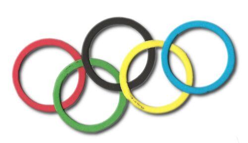 20 collant dos mousse anneau die cuts olympique londres jeux paralympiques craft 5x5cm sport